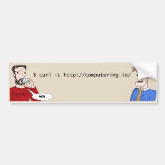 Adesivo Para Carro Etiqueta cómica do bumber da Web de Computering.io