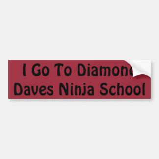 Adesivo Para Carro Etiqueta da escola de Daves Ninja do diamante