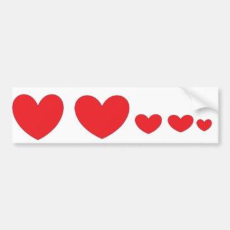 Adesivo Para Carro Etiqueta da família do coração