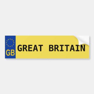 Adesivo Para Carro Etiqueta da matrícula da UE de Grâ Bretanha