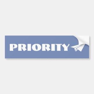 Adesivo Para Carro Etiqueta da prioridade
