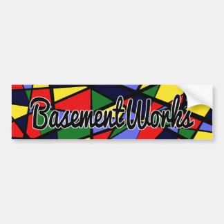 Adesivo Para Carro Etiqueta de BasementWorks da coragem por BW