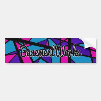 Adesivo Para Carro Etiqueta de BasementWorks do Aqua por BW