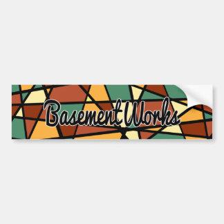 Adesivo Para Carro Etiqueta de Firenze BasementWorks por BW