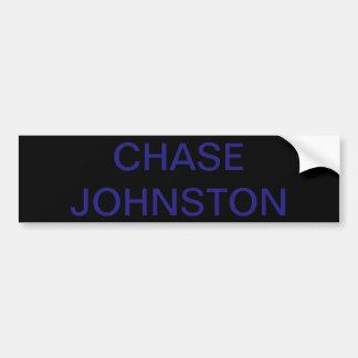 Adesivo Para Carro Etiqueta de Johnston da perseguição!