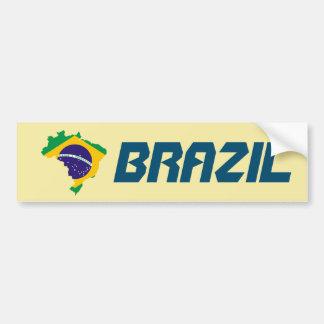 Adesivo Para Carro Etiqueta dinâmica do mapa da bandeira de Brasil