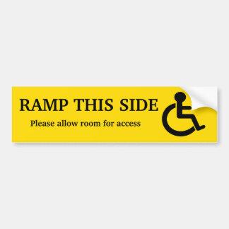 Adesivo Para Carro Etiqueta do acesso da rampa