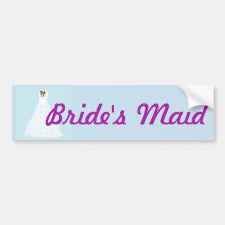 Adesivo Para Carro Etiqueta do casamento da empregada doméstica da