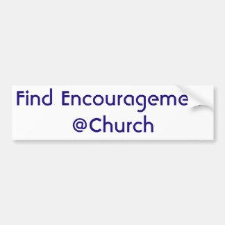 Adesivo Para Carro Etiqueta do @Church do incentivo do achado