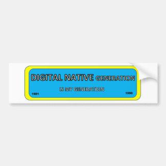 Adesivo Para Carro Etiqueta do pára-choque/janela para o NATIVO de