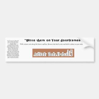 Adesivo Para Carro Etiqueta do quadro de porta de Deuteronomy 6 da