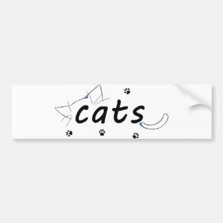 Adesivo Para Carro etiqueta dos gatos