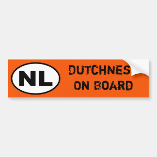 Adesivo Para Carro Etiqueta dos NL - Dutchness a bordo