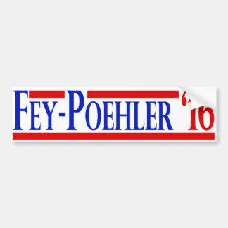Adesivo Para Carro Etiqueta enigmático/de Poehler 2016 campanha