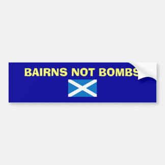 Adesivo Para Carro Etiqueta escocesa da independência das bombas dos