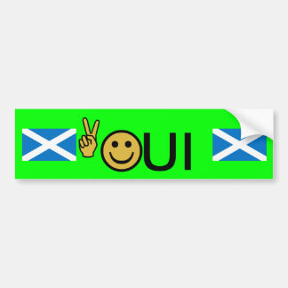 Adesivo Para Carro Etiqueta escocesa da independência do smiley da