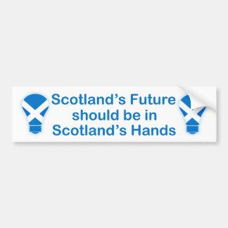 Adesivo Para Carro Etiqueta escocesa futura da independência de