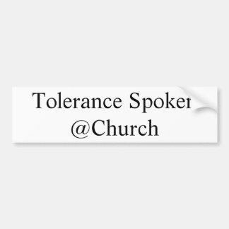Adesivo Para Carro Etiqueta falada tolerância do @Church