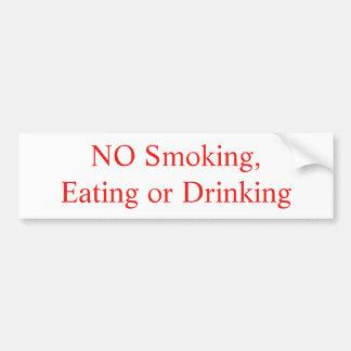 Adesivo Para Carro Etiqueta não fumadores, comendo ou bebendo
