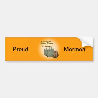 Adesivo Para Carro Etiqueta orgulhosa do Mormon