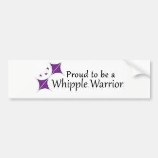Adesivo Para Carro Etiqueta orgulhosa ser um guerreiro de Whipple