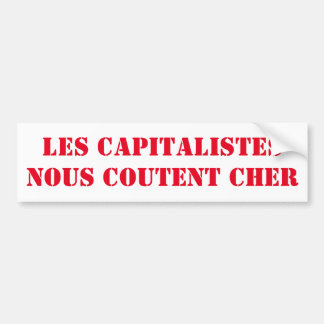 Adesivo Para Carro etiqueta os capitalistas custam caro