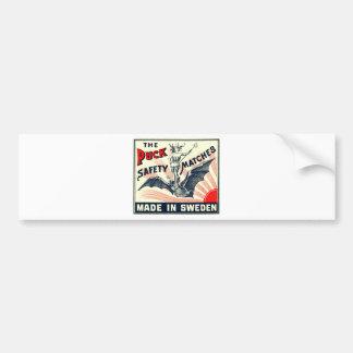 Adesivo Para Carro Etiqueta sueco da caixa de fósforos do bastão