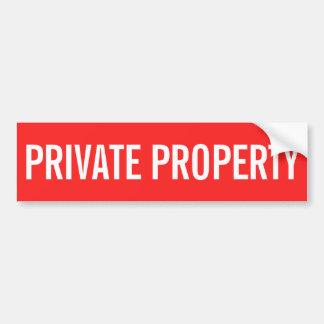 Adesivo Para Carro Etiqueta vermelha e branca da propriedade privada