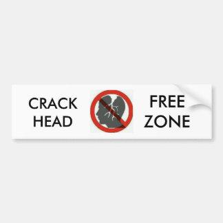 Adesivo Para Carro etiquetas do bumber da zona franca do crackhead