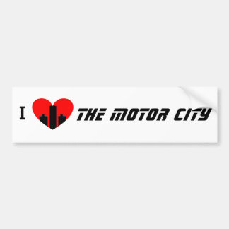 Adesivo Para Carro Eu amo a cidade do motor