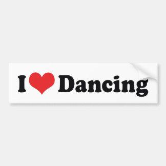 Adesivo Para Carro Eu amo a dança do coração - amante da dança