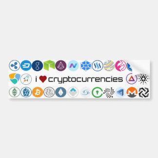 Adesivo Para Carro Eu amo a etiqueta dos cryptocurrencies