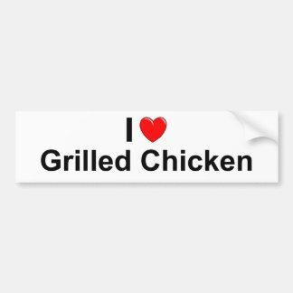 Adesivo Para Carro Eu amo a galinha grelhada coração