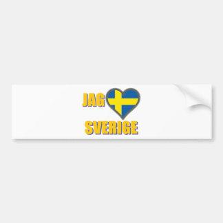 Adesivo Para Carro Eu amo a suecia (entalhe Älskar Sverige)