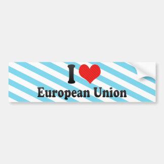 Adesivo Para Carro Eu amo a União Europeia