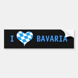 Adesivo Para Carro Eu amo Baviera, espaço livre, autocolante no vidro