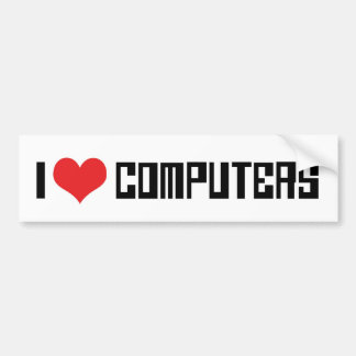 Adesivo Para Carro Eu amo computadores do coração - amante dos