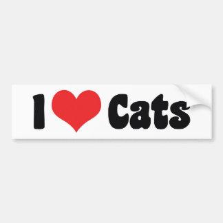 Adesivo Para Carro Eu amo gatos do coração - amante do gato