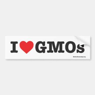 Adesivo Para Carro Eu amo GMOs! - Autocolante no vidro traseiro