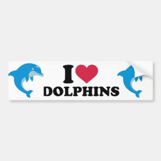 Adesivo Para Carro Eu amo golfinhos