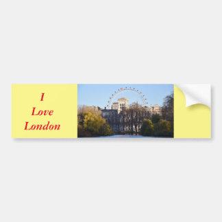 Adesivo Para Carro Eu amo Londres!