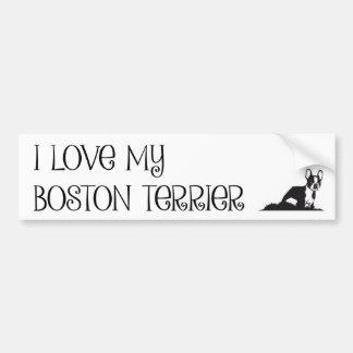 Adesivo Para Carro Eu amo meu autocolante no vidro traseiro de Boston