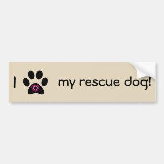 Adesivo Para Carro Eu amo meu autocolante no vidro traseiro do cão do