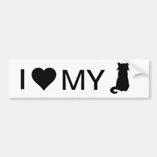 Adesivo Para Carro Eu amo meu autocolante no vidro traseiro do gato