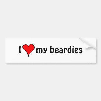 Adesivo Para Carro Eu amo meu Beardies