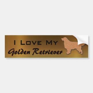 Adesivo Para Carro Eu amo meu golden retriever