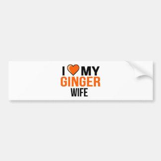 Adesivo Para Carro Eu amo minha esposa do gengibre