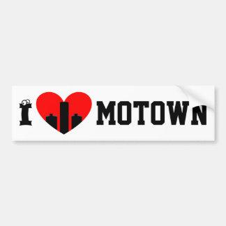 Adesivo Para Carro Eu amo Motown