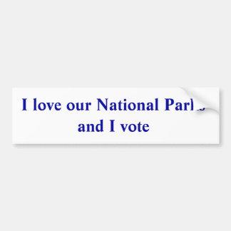Adesivo Para Carro Eu amo nossos parques nacionais e eu voto