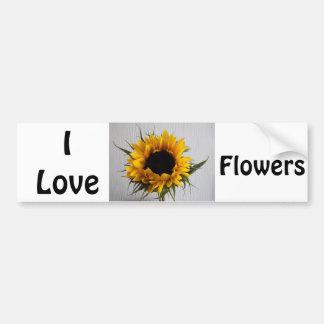 Adesivo Para Carro Eu amo o autocolante no vidro traseiro das flores